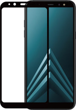 Azuri Gehard Glas Galaxy A6 Plus (2018) SP Glas Zwart