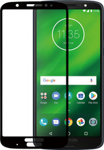 Azuri Gehard Glas Moto G6 Plus Screenprotector Glas Zwart