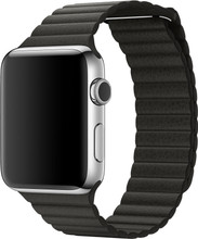 Apple Watch 42mm Lederen Horlogeband Grijs Large