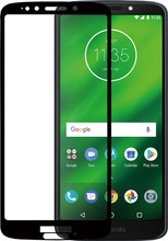 Azuri Gehard Glas Moto G6 Play Screenprotector Glas Zwart
