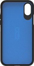 GEAR4 D3O Battersea iPhone X Back Cover Zwart/Blauw