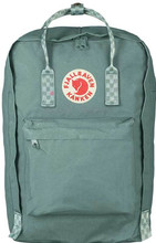 Fjällräven Kånken 17'' Frost Green-Chess Pattern