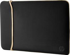 """HP 14"""" Reversible Sleeve Zwart/Goud"""