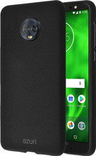 Azuri flexible sand Moto G6 Back Cover Zwart