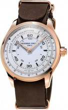 Frederique Constant Horological Chronograph Wit/Bruin
