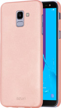 Azuri metallic soft touch Galaxy J6 (2018) Back Cover Roze