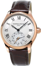Frederique Constant Horological Gents Classic Wit/Bruin