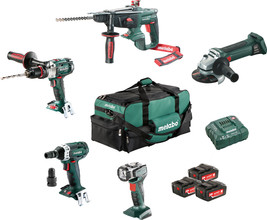 Metabo Combiset: Bouw & Renovatie - 5 machines