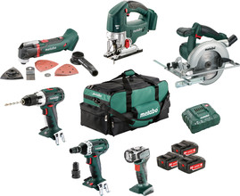 Metabo Combiset: Houtbewerking - 6 machines