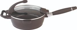 Berghoff Virgo braadpan met steel 28 cm donkerbruin