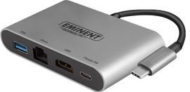 Eminent Usb C naar HDMI, Usb A en Ethernet Converter