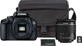 Canon EOS 4000D + 18-55mm DC + Tas + Geheugenkaart.