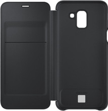 Samsung J6 (2018) Wallet Cover Zwart