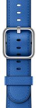 Apple Watch 42mm Klassiek Lederen Polsband Electric Blauw