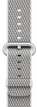 Apple Watch 42mm Nylon Woven Check Horlogeband Wit