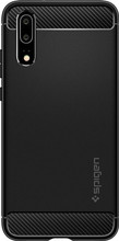 Spigen Rugged Amor Huawei P20 Back Cover Zwart