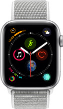 Apple Watch Series 4 44mm Zilver Aluminium/Grijze Nylon Spor