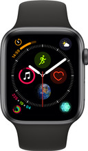 Apple Watch Series 4 44mm Space Gray Aluminium/Zwarte Sportb