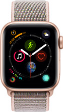 Apple Watch Series 4 40mm Goud Alu/Roze Nylon Sportband