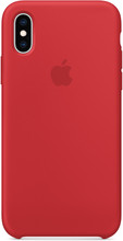 Apple iPhone XS Silicone Back Cover RED