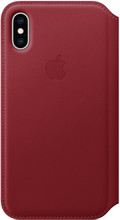 Apple iPhone XS Leather Folio Book Rood