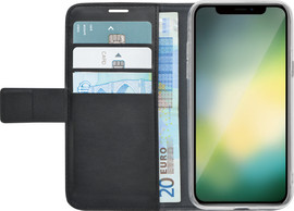 Azuri Wallet Magneet iPhone Xr Book Case Zwart