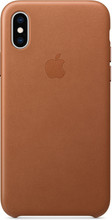 Apple iPhone XS Leather Back Cover Zadelbruin