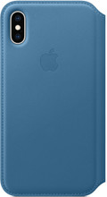 Apple iPhone XS Leather Folio Book Cape Cod Blauw