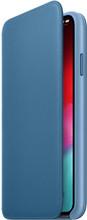Apple iPhone XS Max Leather Folio Book Cape Cold Blue