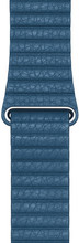 Apple Watch 44mm Leren Horlogeband Cape Cod Blauw Large