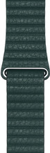 Apple Watch 44mm Leren Horlogeband Bosgroen Large