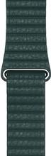 Apple Watch 44mm Leren Horlogeband Bosgroen Large