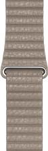 Apple Watch 44mm Leren Horlogeband Steengrijs Medium