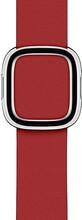 Apple Watch 40mm Modern Leren Horlogeband RED - Large