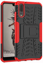 Just in Case Rugged Hybrid Huawei P20 Back Cover Rood