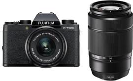 Fujifilm X-T100 Zwart + XC 15-45mm OIS PZ + XC 50-230mm OIS