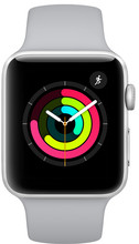 Apple Watch Series 3 42 mm Zilver Aluminium/Grijze Sportband