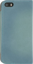 Senza Desire Leather iPhone 5/5S/SE Book Case Blauw