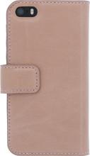 Senza Pure Leather Wallet iPhone 5/5S/SE Book Case Roze