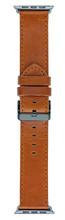 Copenhagen Apple Watch 42/44mm Leren Horlogeband Donkerbruin