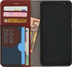 Azuri Full Wallet Samsung Galaxy A8 (2018) Book Case Bruin