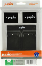 Jupio Kit: 2x Battery NP-W126S + USB Dual Charger
