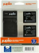 Jupio Kit: 2x Battery DMW-BLG10E + USB Single Charger