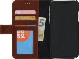 Decoded 2-in-1 Leather Wallet iPhone Xr Book Case Bruin