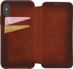 Senza Desire Skinny Leather CS Apple iPhone X Book Case Brui