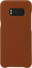 Mujjo Leather Case Galaxy S8 Back Cover Bruin