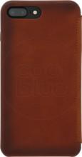 Senza Desire Skinny Leather iPhone 7+/8+ Book Case Bruin