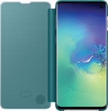 Samsung Galaxy S10 Clear View Cover Book Case Groen