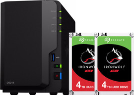 Synology DS218 met 2x Seagate IronWolf 4 TB harde schijf