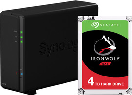 Synology DS118 met 1x Seagate IronWolf 4 TB harde schijf